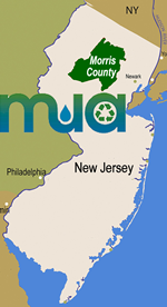 Location Map of Morris County, NJ